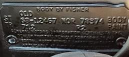 Body Plate Camaro